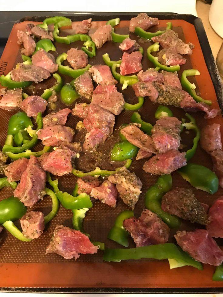 Souvlaki Pork (sheet pan, kebabs, skillet)